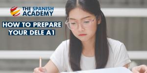 Spanish student preparing exam